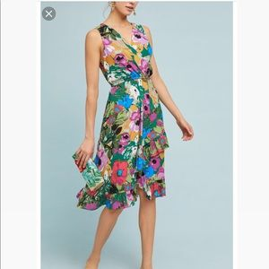 Anthropologie Tracy Reese Floral Midi Dress